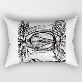 Bridge Reflection Marker Black white drawing Rectangular Pillow