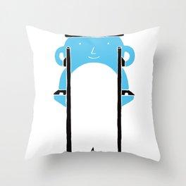 Mr Blue Boy Throw Pillow