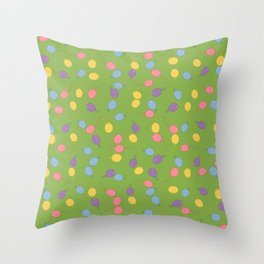 Multi Colored Balloon Pattern Throw Pillow