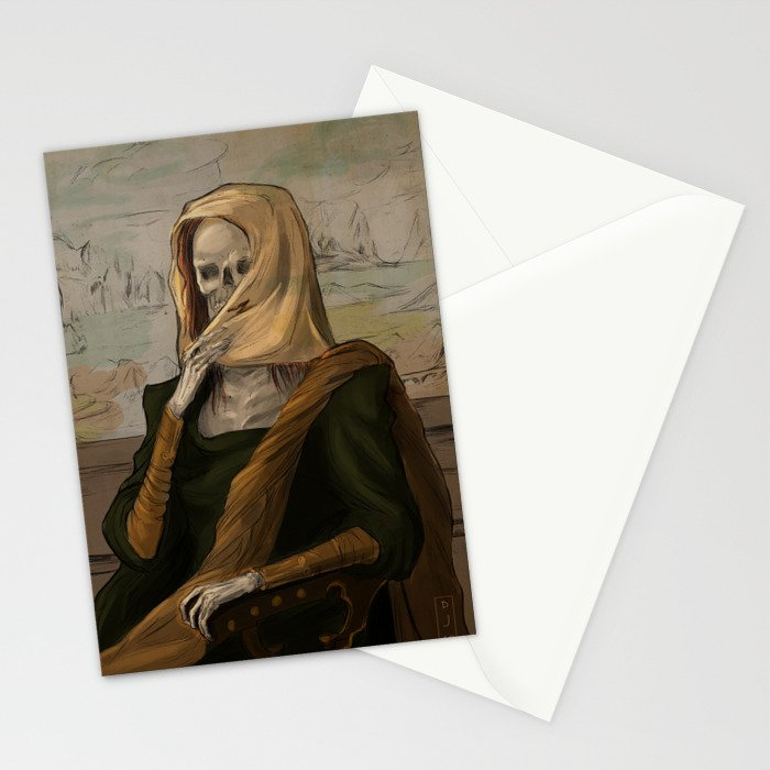 Death like Smile Stationery Cards