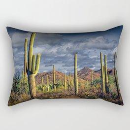 Saguaro Cactuses in Saguaro National Park Rectangular Pillow
