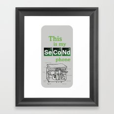 Second Phone Framed Art Print
