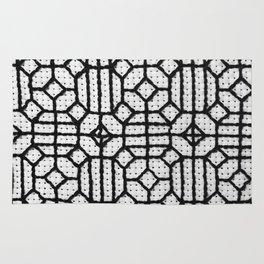 Vintage Window Grille Cross-Stitch Pattern #1 Rug