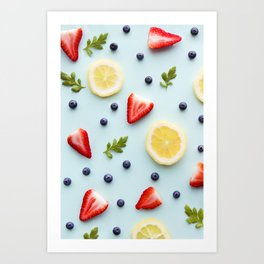 Strawberry Lemonade Art Print