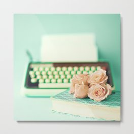 Typing With Love Metal Print