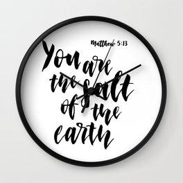 Matthew 5:13 Wall Clock