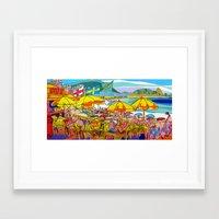 rio de janeiro Framed Art Prints featuring Copacabana - Rio de Janeiro by J.Victtor