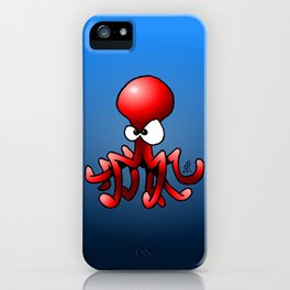 Red Octopus iPhone Case