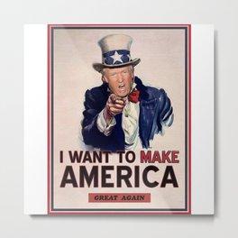 make america great again Metal Print