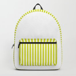 Green & White Backpack