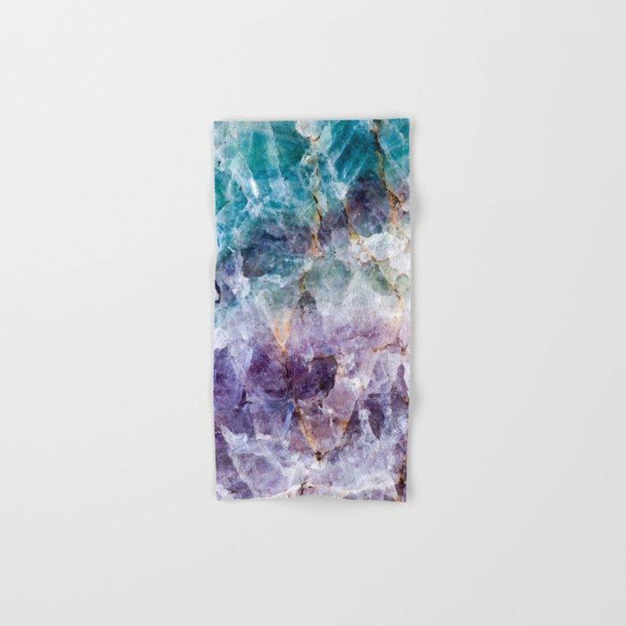 Turquoise & Purple Quartz Crystal Hand & Bath Towel