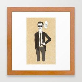Bank dance #1-2 Framed Art Print