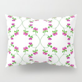 Floral Latticework on white Pillow Sham
