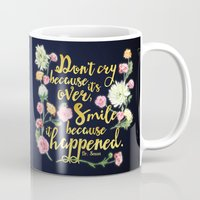 dr seuss Mugs featuring Dr. Seuss - Don't Cry by Evie Seo