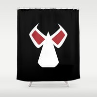 bane Shower Curtains featuring Bane Mask by Minimalist Heroes