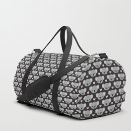 Cute koalas and pink hearts Duffle Bag