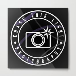 Chase This Light Logo Metal Print