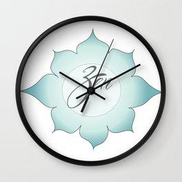 Zen Flower Wall Clock