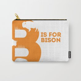 B is for Bison - Animal Alphabet Series Carry-All Pouch