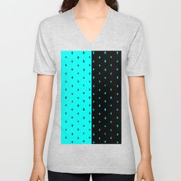 star pattern Unisex V-Neck