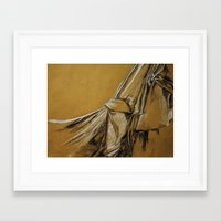 fabric Framed Art Prints featuring Fabric  by BailyCrawford