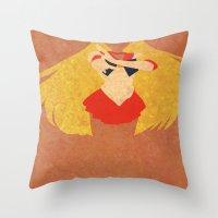 sailor venus Throw Pillows featuring Sailor Venus by JHTY