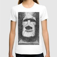island T-shirts featuring Easter island - Moai statue - Ink by Nicolas Jolly