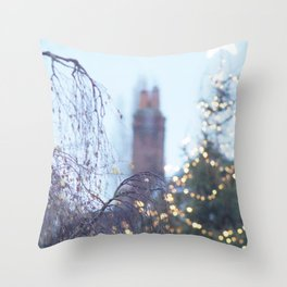 Christmas Lights in Marlow Throw Pillow