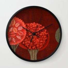 Red Grove Wall Clock
