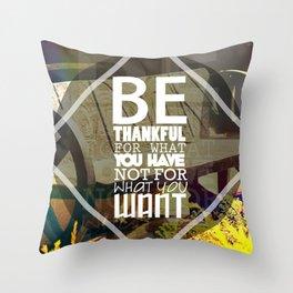 Be.. Throw Pillow