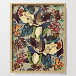 FLORAL AND BIRDS XXI-II Serving Tray