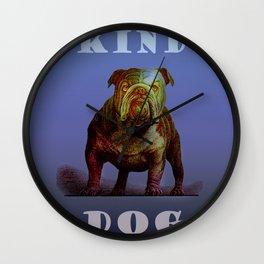 Kind Dog Wall Clock