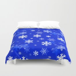 Light Blue Snowflakes Duvet Cover