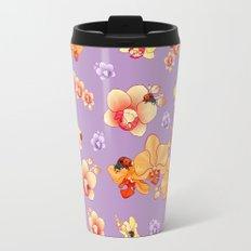 Orchids & Ladybirds Travel Mug