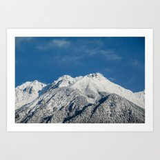 The majestic Austrian Alps covered with fresh snow in March. Art Print