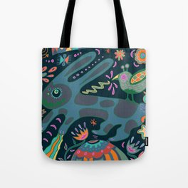 Jumping Rabbit Tote Bag