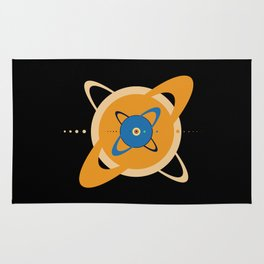 Solar System To Scale - Concentric Rug
