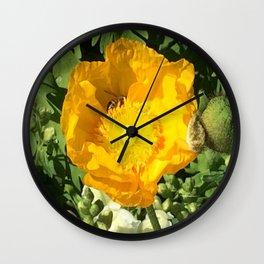 Poppy Bee Wall Clock