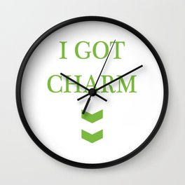 """Guys! Have This St. Patrick's Tee Saying """"I Got Your Lucky Charm Right Here"""" T-shirt Design Shamrock Wall Clock"""