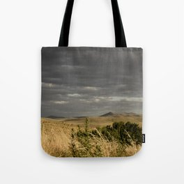 Storm in mountains Tote Bag