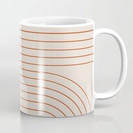 Minimal Line Curvature - Coral II Coffee Mug