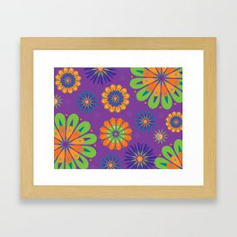 Psychoflower Purple Framed Art Print
