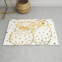 Owl Always Love You - Gold Rug