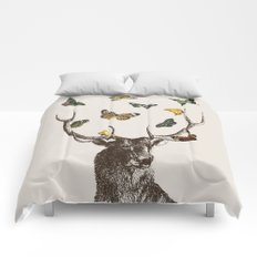 The Stag and Butterflies Comforters