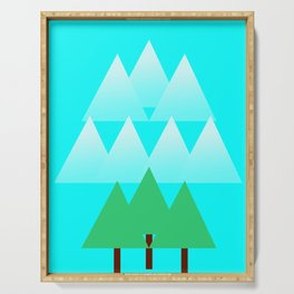 Trees and Mountains Serving Tray