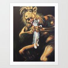 Alf Devouring His Cat Art Print