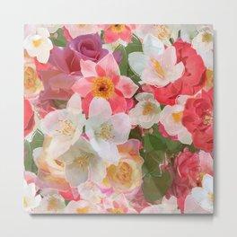 Alhambra Flowers Metal Print
