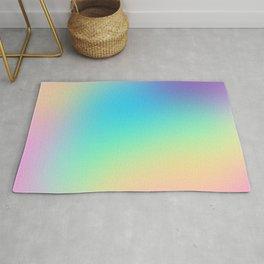 Soft Pastel Rainbow Ombre Design Rug