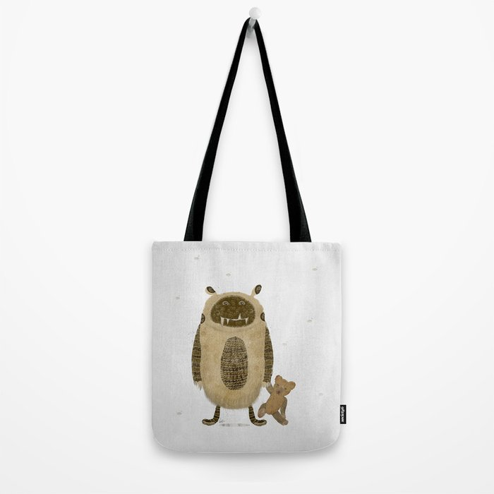 monster and bear Tote Bag