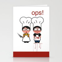 fault Stationery Cards featuring It wasn't my fault by Golosinavisual